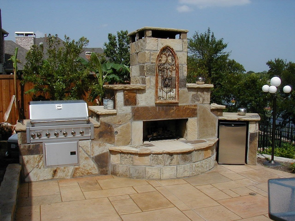 Outdoor Kitchen Fireplace Great Ideas For Outdoor Kitchens Freestyle Pools Spas Inc